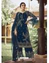 Teal Blue Designer Party Wear Palazzo Pakistani Suit
