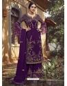 Purple Designer Party Wear Palazzo Pakistani Suit