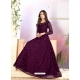 Purple Heavy Designer Net Aanarkali Suit
