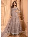 Dusty Pink Heavy Designer Butterfly Net Aanarkali Suit