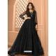 Black Heavy Designer Butterfly Net Aanarkali Suit