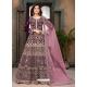 Deep Wine Heavy Designer Faux Georgette Aanarkali Suit