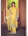 Yellow Designer Pure Maslin Palazzo Salwar Suit