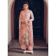 Light Orange Designer Pure Maslin Palazzo Salwar Suit