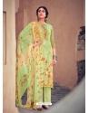 Green Designer Pure Maslin Palazzo Salwar Suit