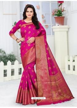 Rani Designer Party Wear Lichi Base Sari