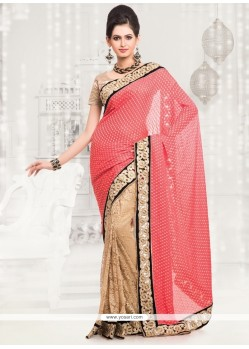 Imposing Lace Work Designer Half N Half Saree