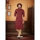 Maroon Readymade Designer Party Wear Kurta Pajama For Men