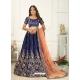 Dark Blue Scintillating Designer Heavy Wedding Lehenga Choli