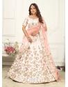Baby Pink Scintillating Designer Heavy Wedding Lehenga Choli