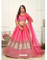 Fuchsia Scintillating Designer Heavy Wedding Lehenga Choli