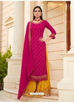 Rani Designer Heavy Faux Georgette Palazzo Salwar Suit