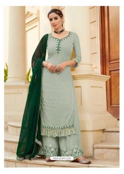 Light Grey Designer Heavy Faux Georgette Palazzo Salwar Suit