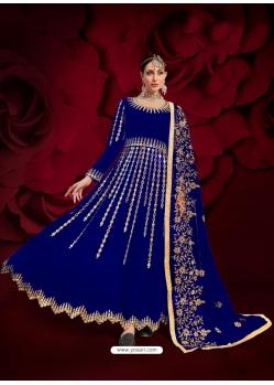 Royal Blue Designer Heavy Pure Georgette Anarkali Suit