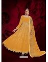 Yellow Designer Heavy Pure Georgette Anarkali Suit
