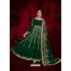 Dark Green Designer Heavy Pure Georgette Anarkali Suit