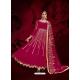 Rose Red Designer Heavy Pure Georgette Anarkali Suit