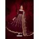 Maroon Designer Heavy Pure Georgette Anarkali Suit