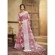 Dusty Pink Designer Party Wear Cotton Linen Sari