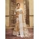 Beige Designer Party Wear Cotton Linen Sari