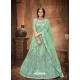 Sea Green Stylish Designer Wedding Wear Net Lehenga Choli