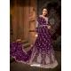 Purple Designer Net Anarkali Suit