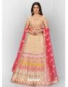 Multi Colour Stylish Designer Wedding Wear Organza Lehenga Choli