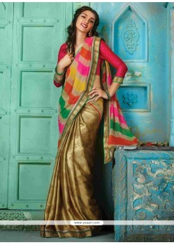 Classical Georgette Beige Designer Traditional Sarees