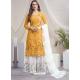 Yellow Designer Georgette Palazzo Salwar Suit