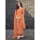 Orange Designer Pure Maslin Palazzo Salwar Suit