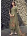 Mehendi Designer Pure Maslin Palazzo Salwar Suit