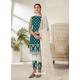 Teal Designer Party Wear Butterfly Net Pakistani Suit