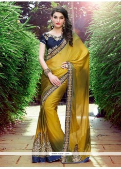 Bedazzling Georgette Lace Work Designer Saree