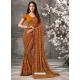 Rust Designer Casual Wear Georgette Sari