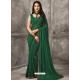 Dark Green Designer Casual Wear Georgette Sari