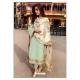 Sea Green Designer Party Wear Faux Georgette Pakistani Suit