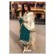Teal Designer Party Wear Faux Georgette Pakistani Suit