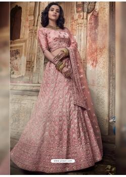 Pink Stylish Designer Wedding Wear Lehenga Choli