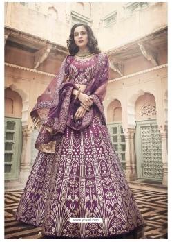 Purple Stylish Designer Wedding Wear Lehenga Choli