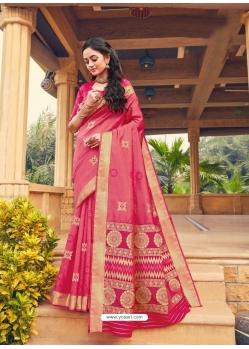 Light Red Designer Party Wear Fancy Silk Sari
