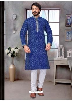 Dark Blue Exclusive Readymade Kurta Pajama