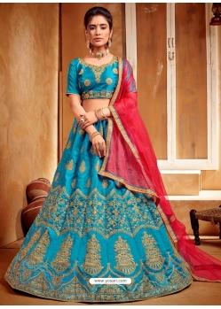 Blue Stylish Designer Wedding Wear Lehenga Choli
