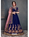 Dark Blue Stylish Designer Bridal Wear Lehenga Choli