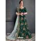 Dark Green Stylish Designer Bridal Wear Lehenga Choli