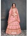 Pink Stylish Designer Bridal Wear Lehenga Choli