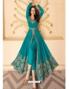 Blue Latest Designer Party Wear Real Georgette Gown Suit