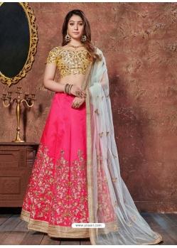 Fuchsia Stylish Designer Wedding Wear Lehenga Choli