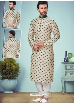 Off White Exclusive Readymade Designer Kurta Pajama