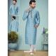 Blue Exclusive Readymade Designer Kurta Pajama