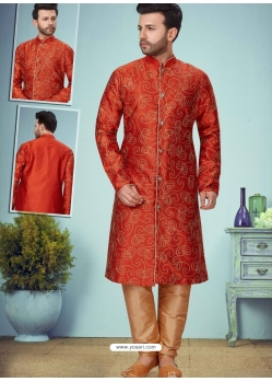 Red Exclusive Readymade Designer Kurta Pajama